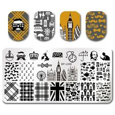 BORN PRETTY Nail Art Stamp Plate Manicure Image Template London Design BP-L058