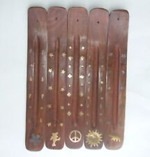 "Wooden Ash Catchers Incense Burner Holder For Sticks 11"" CHOOSE DESIGN Zelda's"