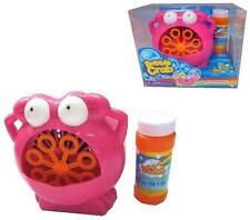 NOVELTY PINK CRAB 8 MOVING WAND batttery oper TOY BUBBLE BLOWER MACHINE bubbles