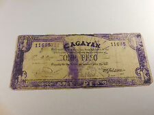 Philippines Emergency Guerrilla Currency Cagayan 1 Peso - # 11605 - Ink Smear