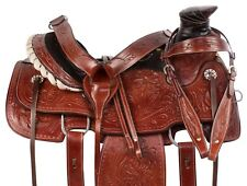USED WESTERN WADE TREE RANCH ROPING TRAIL LEATHER HORSE SADDLE TACK 15 16