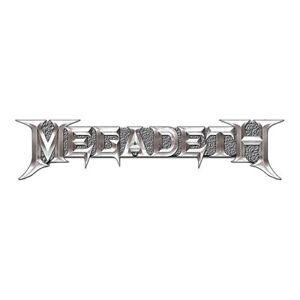 Megadeth Official Chrome Metal Logo Pin Badge Heavy Thrash Band Album Rock