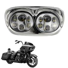 Cree LED Headlight Dual Projector Daymaker Lamp For Harley Road Glide 2003-2013