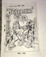 The Avengers Captain America Black Panther Marvel Cover Production Art Acetate
