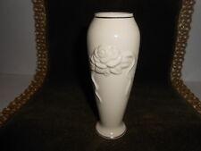 "25 Lenox Rose Blossom Bud Vases 6"" Ivory With Gold Trim Fine China"