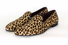 Poste Aristocrat Loafers Leopard Cow Hair Leather Size 42IT