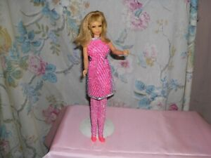 1960's Mattel Francie Twist N Turn Wearing The Silver Cage Outfit