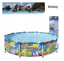 Bestway Piscina Jardín 10FT Marco Redondo De 305 cm por encima de la tierra piscina Steel Pro
