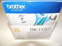 Brother DK-11207 CD/DVD Etiketten Ø 58 mm reißfest, weiß, Folie, auf Rolle
