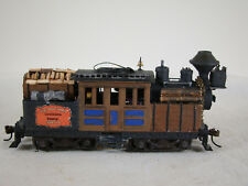 HO Logging Climax Steam Locomotive - custom weathered - DCC + Sound