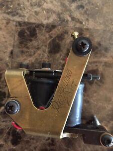 2017 Chopped Brass J Frame Paco Liner Tattoo Machine