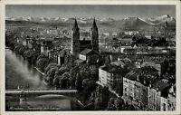 München Munich Bayern ~1920/30 Isarpartie mit Gebirge Verlag Lengauer ungelaufen