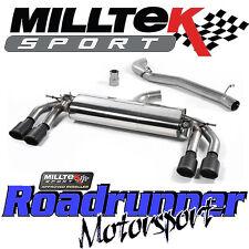 """MILLTEK SSXAU576 AUDI TTS MK3 2.0 TFSI QUATTRO 3"""" Di Scarico Cat Indietro Non Res Nero"""