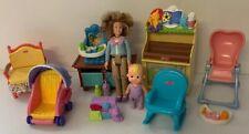 Loving Family Rocker Nursery Baby Mom Furniture Toy Chest Table Stroller Sound