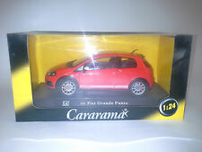 FIAT GRANDE PUNTO RED 1:24 CARARAMA. NEW IN BOX.