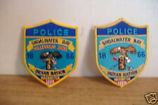 ~SHOALWATER BAY~WASHINGTON~POLICE PATCHES~2 STYLES~