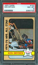 1972 73 TOPPS HOCKEY 127 KEN DRYDEN GRADED PSA 8 NM-MINT MONTREAL CANADIENS A S