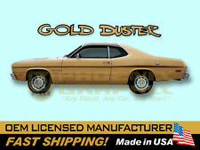 1970 1971 1972 1973 1974 1975 Plymouth Gold Duster COMPLETE Decals & Stripes Kit