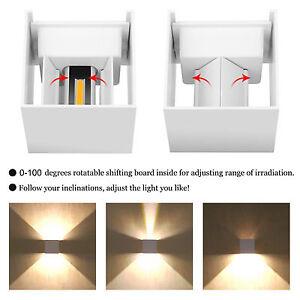 Hot Modern 7W LED Cube Wall Sconces Fixture Lamp Bedroom Porch Pub Decking Light