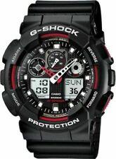CASIO G-SHOCK GA100-1A4 MEN'S BLACK/RED ANA-DIGI WATCH
