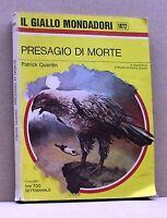 PRESAGIO DI MORTE - P. Quentin [Libro, Il giallo MOndadori n. 1472]