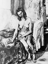 FRANCIS GRUBER - NUDE - ORIGINAL VERVE LITHOGRAPH 1953 - IN US