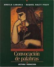 Convocacion de palabras: Lectura y redaccion Labarca, Angela, Pfaff, Raquel Pap