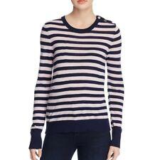 Equipment Femme Ondine Pullover Sweater Silk Cashmere Shoulder Buttons Striped