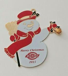 Dickies 2015 Snowman Christmas Ornament Rare