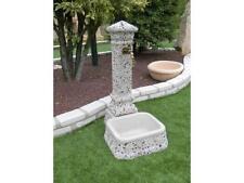 Fontana esterno giardino Bonfante Salvaterra Fantasia marmo bianco rosa nero