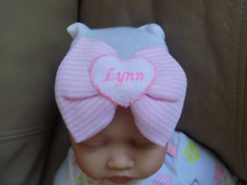 Personalized Baby Girl Hospital Hat (0-3 months)
