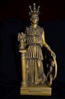 Athena Statue,Ancient Greek Goddess of Wisdom(BRONZE PATINA NEW)made in Greece