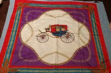 Red Coaching Horse Drawn Carriage Scarf Italy