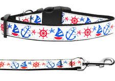 Mirage Anchors Away Nylon Dog Collars and Leash Combo