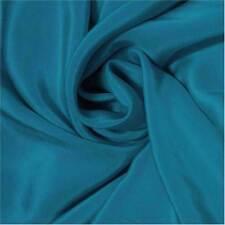 #16W (Vivid blue)140cm W 14momme Pure Silk Crepe De Chine fabric +Free SQ Button