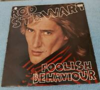 ROD STEWART~ FOOLISH BEHAVIOUR LP ~ VINYL EXCELLENT  ~ RVLP 11