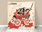 """Stunning Classic Asian Art ~ Kuniyoshi Danjuro Samurai~ CANVAS PRINT 24x24"""""""