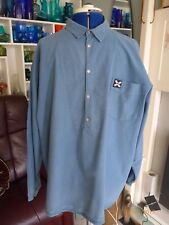 """RETRO """"QUIKSILVER"""" CASUAL SHIRT - FASTENS WITH POPPERS AT NECK - S"""
