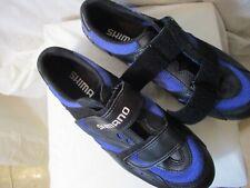Classic Black & Blue SHIMANO SH-RO96B Size 43 (US-9) Cycling Shoes-Mint