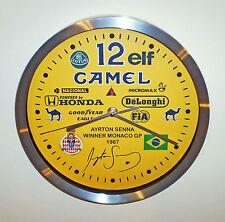 Ayrton Senna Souvenir/Tribute Wall Clock, 1st Win @ Monaco Grand Prix 1987