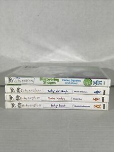 baby einstein dvd lot (baby Bach, Santa's,Van Gogh)& Discovering Shapes(new)