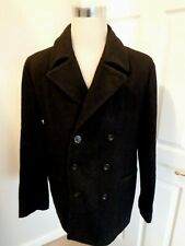 French Connection Black Men's Wool Blend Pea Coat Jacket  size 42