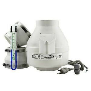 Complete Home Radon Mitigation Fan System Kit Quiet Gas Reduction Radon Monitor