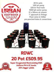 20 Pot 20L System 4 Lane & Flexi For Grow Size 3.5 x 2m DWC RDWC IWS