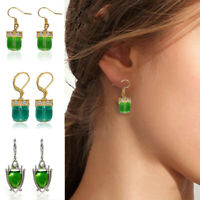 Fashion Women Water Cube Gemstone Wedding Engagement Earrings Charming Jewelry