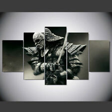 Samurai japan painting 5 Pieces Canvas Wall Art HD Printed Poster Home Decor