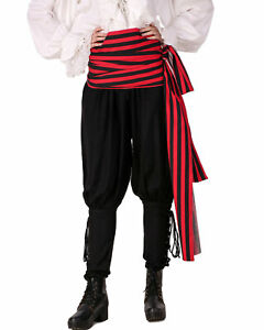 "Pirate Sash Long Striped Cotton Waist Sash 144"" x 10"" Multi Use Costume Acces"