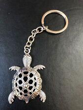 SEA TURTLE TORTOISE KEY RING CHAIN FOB BAG CHARM tibetan silver in gift bag