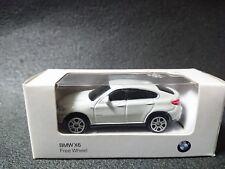 BMW X6 Free Wheel White Mini Car Model Car