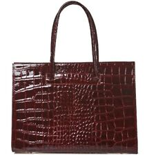 Patent Leather Shoulder bag with crocodile print. 3 colors  Made in Italy.